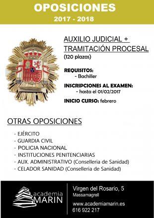 academia oposiciones auxilio judicial y tramitación procesal y administrativa