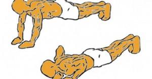 Extensión de brazos en decúbito prono