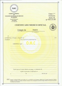 Certificado médico oficial